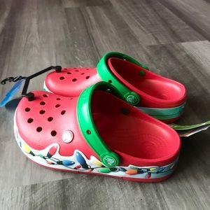 Kids' Crocs Lights Holiday Clog Red NWT